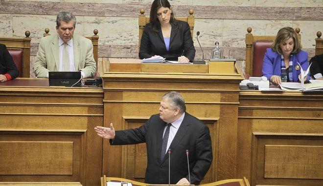 ΑΘΗΝΑ-Βουλή: συζήτηση και λήψη απόφασης, σύμφωνα με το άρθρο 44 του Κανονισμού της Βουλής, επί της προτάσεως της Προέδρου της Βουλής για την επανασύσταση, επανασυγκρότηση και αναβάθμιση της Διακομματικής Επιτροπής της Βουλής για τη διεκδίκηση των γερμανικών επανορθώσεων και αποζημιώσεων, την αποπληρωμή του κατοχικού δανείου και την επιστροφή των κλεμμένων αρχαιολογικών θησαυρών.(EUROKINISSI-ΚΟΝΤΑΡΙΝΗΣ ΓΙΩΡΓΟΣ)
