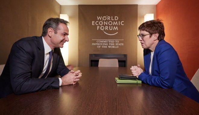 Συναντήσεις του Πρωθυπουργού Κυριάκου Μητσοτάκη στα πλάισια του World Economic Forum, στο Davos της Ελβατίας, την Πέμπτη 23 Ιανουαρίου 2020.