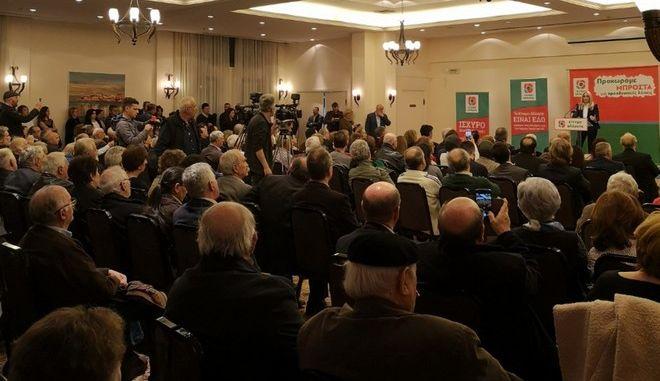 Στιγμιότυπο από την ομιλία της Προέδρου του Κινήματος Αλλαγής, Φώφης Γεννηματά, στην  Αλεξανδρούπολη