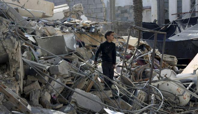 Νεαρό αγόρι στη Γάζα την Τετάρτη