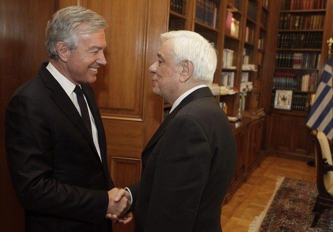 Συνάντηση του Προέδρου της Δημοκρατίας Προκόπη Παυλόπουλου με τον πρόεδρο και το Δ.Σ. του Συνδέσμου Τουριστικών Επιχειρήσεων (ΣΕΤΕ) στο Προεδρικό Μέγαρο, την Πέμπτη 9 Φεβρουαρίου 2017. (EUROKINISSI/ΓΙΩΡΓΟΣ ΚΟΝΤΑΡΙΝΗΣ)