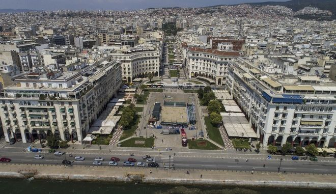 Πανοραμική φωτογραφία από την πόλη της Θεσσαλονίκης