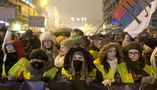 Μεγάλες  διαδηλώσεις στη Σερβία