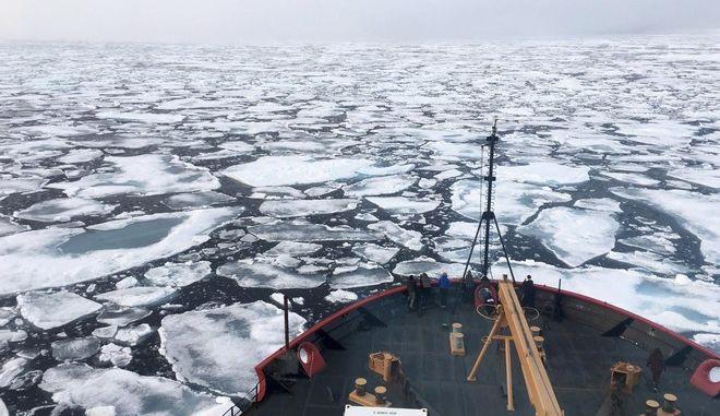 Εικόνα από τον Αρκτικό ωκεανό το καλοκαίρι του 2018