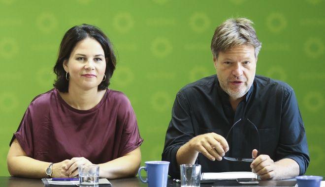 Το ηγετικό δίδυμο των Πρασίνων της Γερμανίας Αναλένα Μπέρμποκ και Ρόμπερτ Χάμπεκ