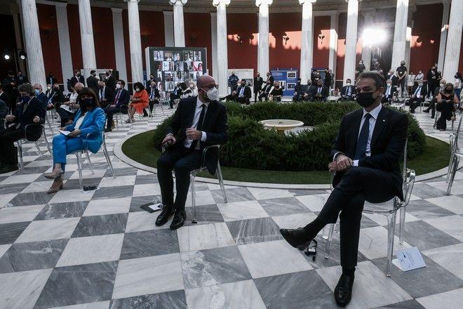 Εικόνα από την εκδήλωση στο Ζάππειο για τα 40 χρόνια από την προσχώρηση της Ελλάδας στην ΕΕ