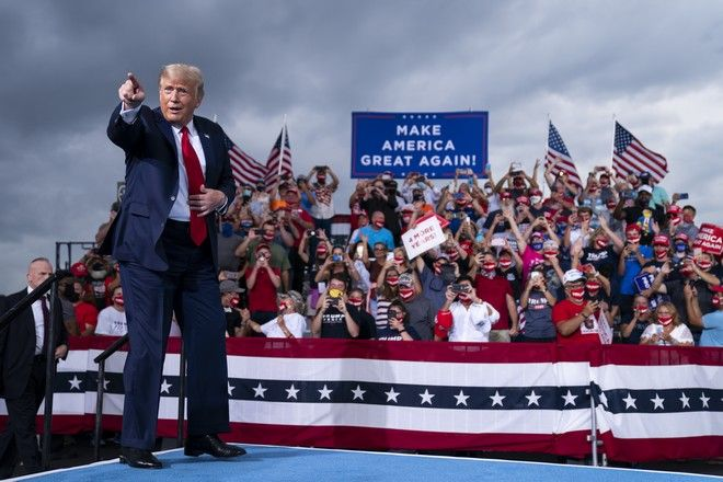Ο Ντόναλντ Τραμπ σε προεκλογική ομιλία στη Βόρεια Καρολίνα τον Σεπτέμβριο του 2020