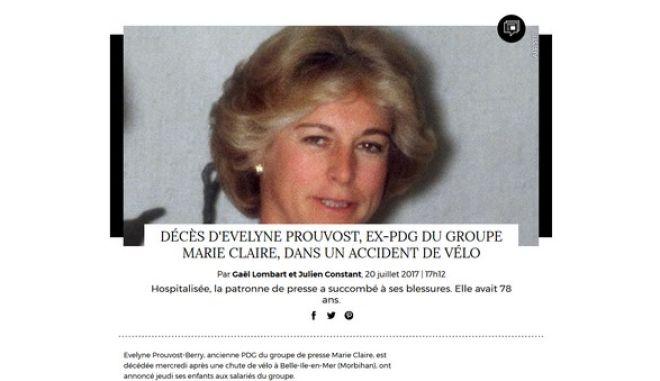 Πέθανε η ιδρύτρια του Marie Claire, Evelyne Prouvost