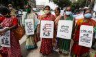 Ινδές σε διαμαρτυρία κατά της βίας
