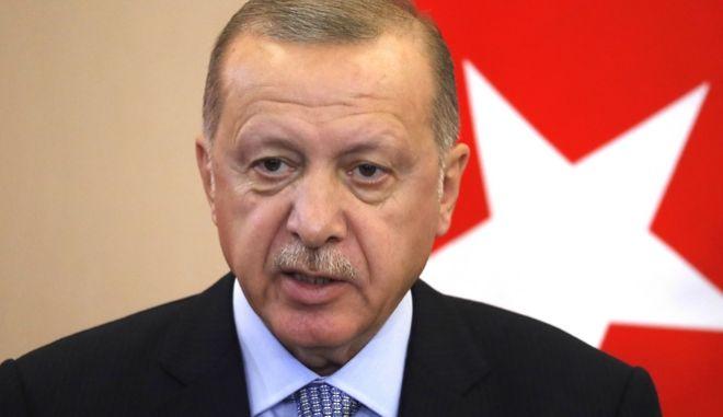 Ο Τούρκος πρόεδρος.