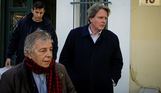 Ο πρώην βουλευτής Νίκος Γεωργιάδης στα δικαστήρια της οδού Ευελπίδων, Τρίτη 26 Φεβρουαρίου 2019.