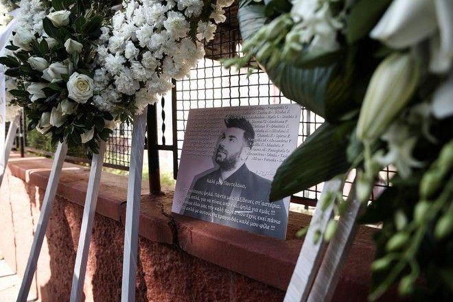 Funeral of the Greek popular singer Pantelis Pantelidis, in Nea Ionia, Athens on February 20, 2016. /      ,  ,    20  2016.