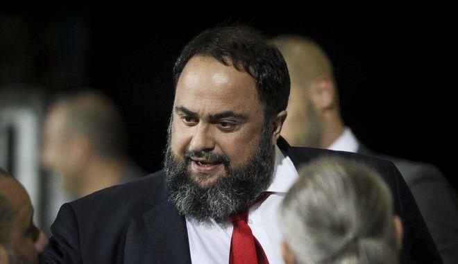 Ο πρόεδρος της ΠΑΕ Ολυμπιακός και δημοτικός σύμβουλος Πειραιά Βαγγέλης Μαρινάκης