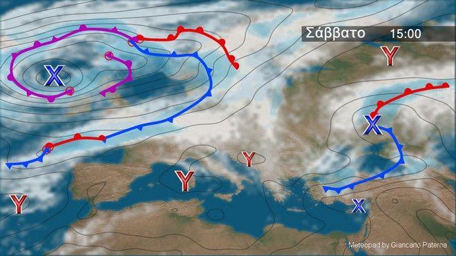 Καιρός: Έντονα καιρικά φαινόμενα το Σάββατο - Που θα εκδηλωθούν ισχυρές καταιγίδες