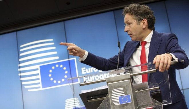 President of the eurogroup Jeroen Dijsselbloem speaks during a media conference after a meeting of eurozone finance ministers at the Europa building in Brussels on Monday, Dec. 4, 2017. Eurozone finance ministers met Monday to elect a new president for the club of 19 nations that share the euro currency. (AP Photo/Olivier Matthys)