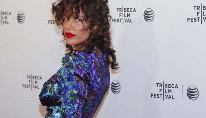 "Paz de la Huerta attends the Tribeca Film Festival world premiere of ""Bare"" at the SVA Theatre on Sunday, April 19, 2015, in New York. (Photo by Andy Kropa/Invision/AP)"