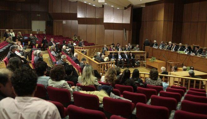 Γενική συνέλευση της Ένωσης Δικαστών και Εισαγγελέων την Κυριακή 6 Δεκεμβρίου 2015. (EUROKINISSI/ΣΤΕΛΙΟΣ ΣΤΕΦΑΝΟΥ)