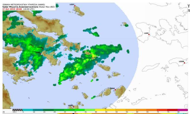 Κακοκαιρία: Η ραγδαία βροχόπτωση στην Άνδρο