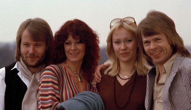 Οι ABBA στο Λονδίνο το 1978. Από αριστερά: Benny Andersson, Anni-Frid Lyngstad, Agnetha Faltskog και Bjorn Ulvaeus