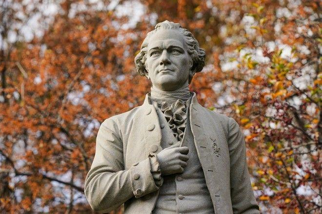 Το άγαλμα του Alexander Hamilton, στο Central Park της Νέας Υόρκης.