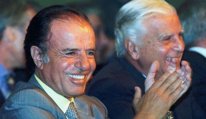 O πρώην πρόεδρος της Αργεντινής Κάρλος Μένεμ
