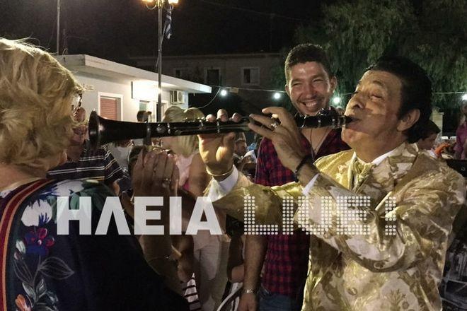 Βίντεο: Ο Γ. Μάγκας με το κλαρίνο του από το καμπαναριό, σε πανηγύρι της Ηλείας