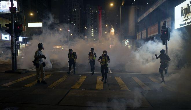 Διαδηλωτές στο Χονγκ Κονγκ