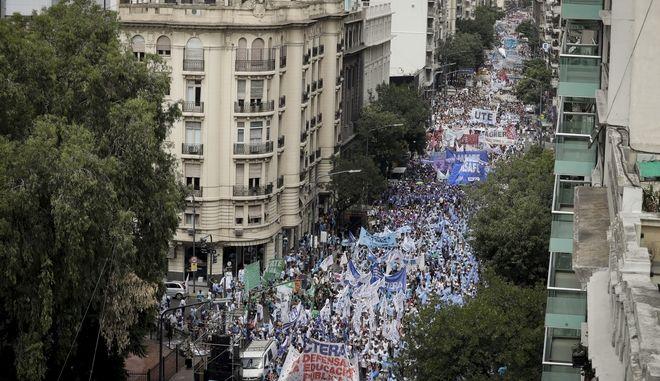 Διαμαρτυρία εκπαιδευτικών στο Μπουένος Άιρες