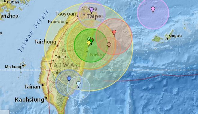Σεισμός 6,1 Ρίχτερ στη Ταϊβάν