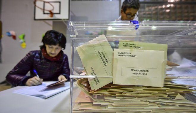 Εικόνα από την εκλογική διαδικασία στην Ισπανία
