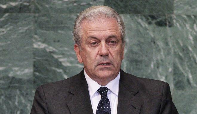 Ο επίτροπος Μετανάστευσης, Εσωτερικών Υποθέσεων και Ιθαγένειας Δημήτρης Αβραμόπουλος σε σύνοδο της γενικής συνέλευσης του ΟΗΕ
