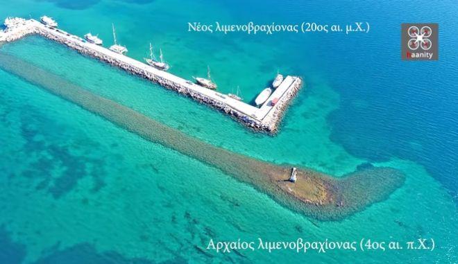 Τα χωρίζουν 2.500 χρόνια: Το άγνωστο βυθισμένο λιμάνι της πανίσχυρης Αρχαίας Ερέτριας
