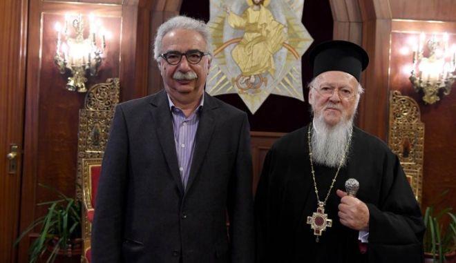 Γαβρόγλου: Άκουσα και θα μεταφέρω τους προβληματισμούς του Οικουμενικού Πατριάρχη