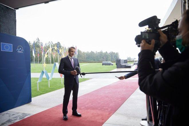 Ο Κυριάκος Μητσοτάκης στη Σύνοδο ΕΕ - Δυτικών Βαλκανίων στη Σλοβενία