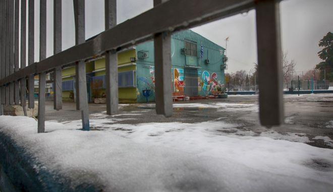 Κλειστά σχολεία λόγω παγετού.