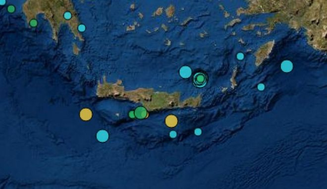 Αλλεπάλληλοι σεισμοί στην Κρήτη