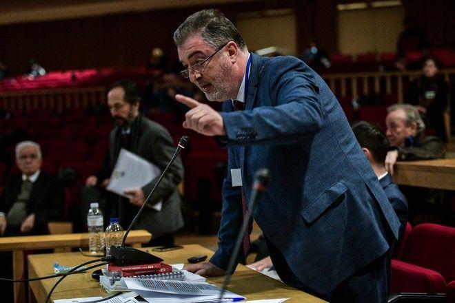 Ο Κώστας Παπαδάκης στη Δίκη της Χρυσής Αυγής (φωτογραφία αρχείου)