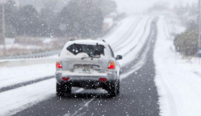 Χιονόπτωση στη Χαλκιδική