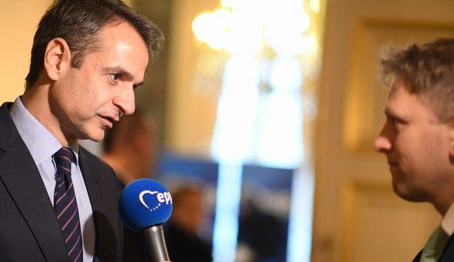 Ο Πρόεδρος της Νέας Δημοκρατίας Κυριάκος Μητσοτάκης (EUROKINISSI/ΓΡΑΦΕΙΟ ΤΥΠΟΥ ΝΔ)