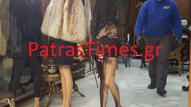 Πάτρα: Αντισπισιστές έκαψαν με μολότοφ κατάστημα με γούνες