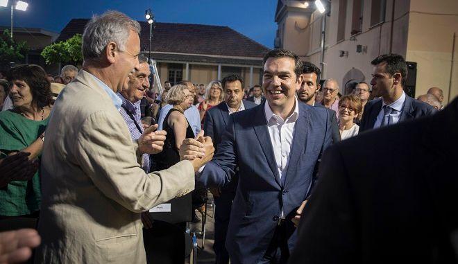 Ο πρωθυπουργός Αλέξης Τσίρπας στο 14ο Περιφερειακο Αναπτυξιακο Συνεδρίο Βορείου Αιγαίου, την Πέμπτη 3 Μαΐου 2018.
