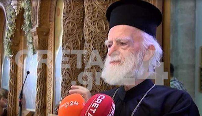 """Επικίνδυνο κήρυγμα από τον Αρχιεπίσκοπο Κρήτης: """"Μη φοράτε μάσκες"""""""