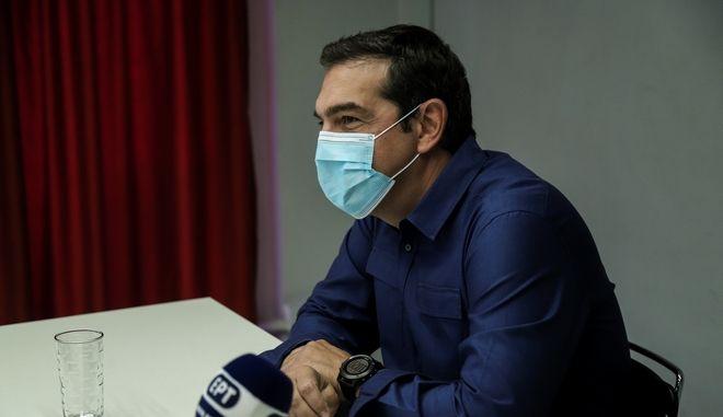 Ο πρόεδρος του ΣΥΡΙΖΑ-Προοδευτική Συμμαχία Αλέξης Τσίπρας