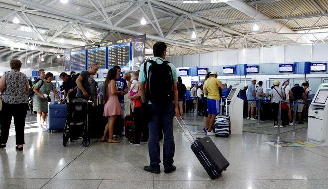 """Αυξημένη κίνηση στο αεροδρόμιο """"Ελ. Βενιζέλος"""""""