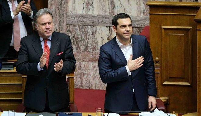 Ο Αλέξης Τσίπρας μόλις ψηφίσθηκε η Συμφωνία των Πρεσπών