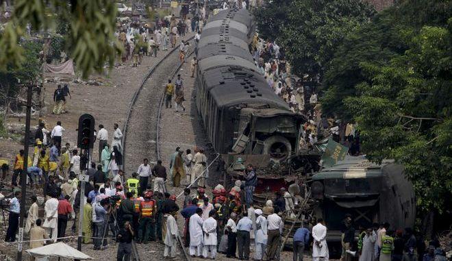 Σιδηροδρομικό δυστύχημα στο Πακιστάν τον Αύγουστο του 2011