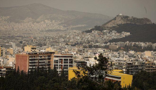 Αφρικανική σκόνη στην ατμόσφαιρα πάνω από την Αθήνα