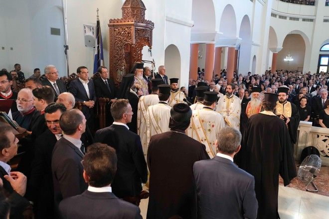Ο πρωθυπουργός στο τελευταίο αντίο του Δημήτρη Χριστόφια