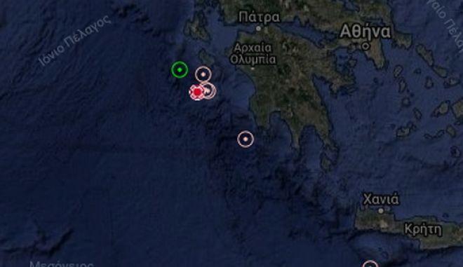 Σεισμός στα ανοικτά της Ζακύνθου