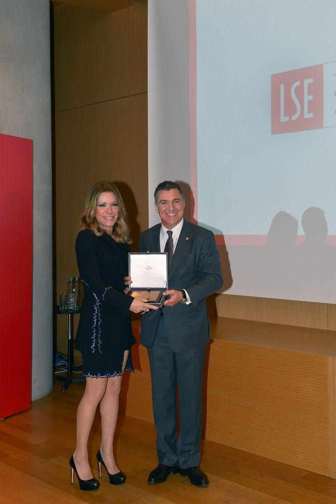 Ο Ελληνικός Σύλλογος αποφοίτων του LSE βραβεύει τη Μαριάννα Λάτση